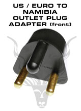 American / European To Namibia Outlet Plug Adapter - To be plugged in a 220V Namibia outlets. Will accept American and European plugs.